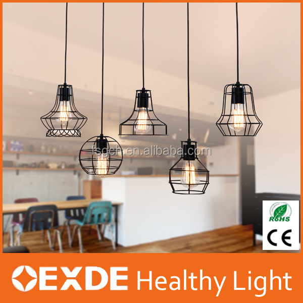 metal pendant light home decoration modern ceiling light e27 base hanging lampshade fastness black chandelier lamps
