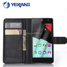 Stand Function Cell Phone Flip Cover Case Leather Wallet Case for Wiko Selfy 4G