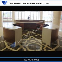 solid surface ticket counter for hospital, airport and hotel