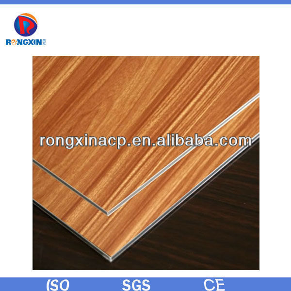 2015 NEW acp Wooden aluminium-plastic composite panel cladding wall material acp