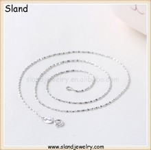 new fashion silver chain design for Women Platinum plating real 925 sterling silver chain necklace 18 inches wholesale