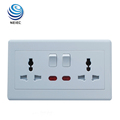 13A 2 Gang Multi function Electric switch socket bangladesh