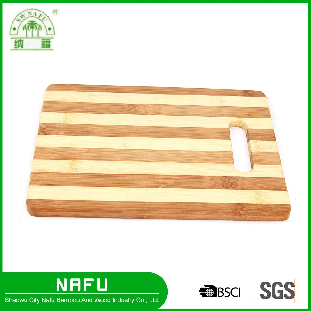 Custom hight quality natural bamboo chopping board with a hole