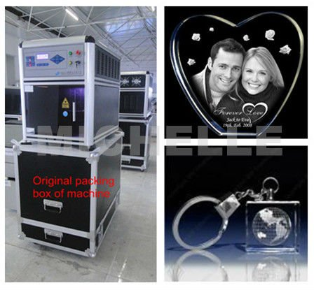 2d 3d photo crystal laser engraving for shopping mall and scenic spots
