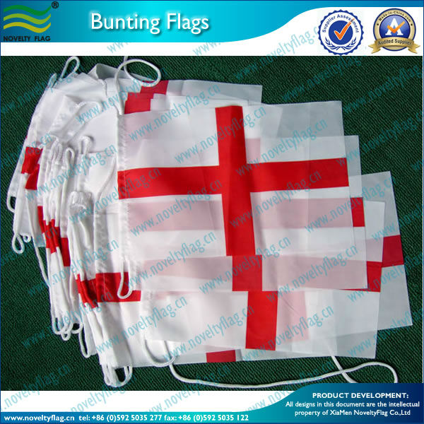 England St.George bunting flags