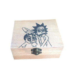 Wholesale Engraved Stash Box Combo, Custom 4 Piece Herb Grinder With Glass Herb Jar