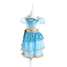 PG041 girls puffy dresses types of night dresses blue bird ballet tutu costumes