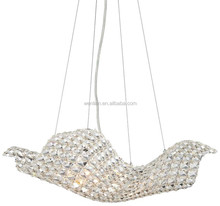 Gleaming crystal pendant light contemporary Euro design pendant light for lobby