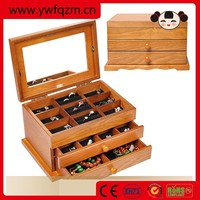 2015 Handmade vintage wooden jewelry box with key lock