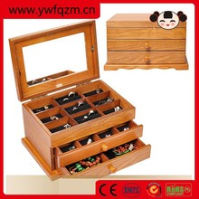2015 Handmade vintage wooden jewelry box with key lock