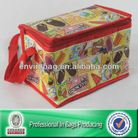 KAWAII CORNETTO RED HANDLE PP NONWOVEN COOLER BAG WITH 2mm Aluminized Foil Lined