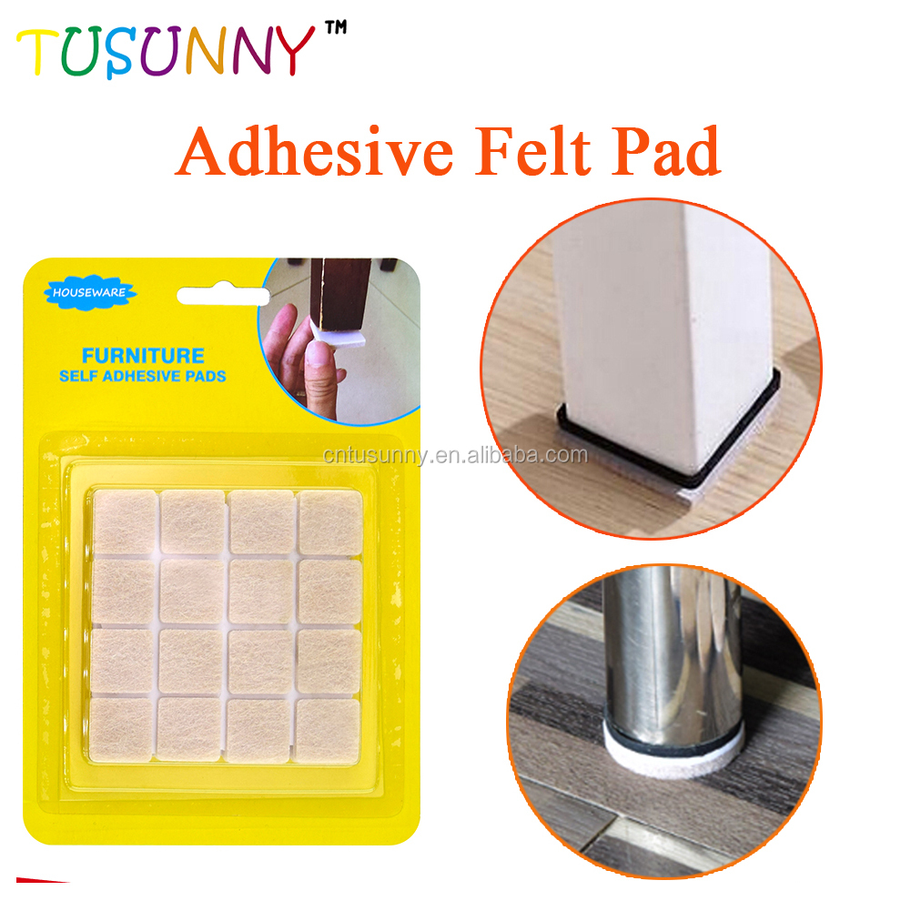 Good Quality 64 Pack Furniture Adhesive Felt Pads With Strong Adhesive For Chair Floor Protector