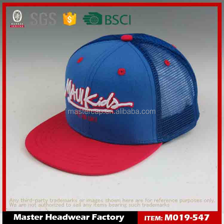 custom nylon 3d embroidery mesh hat