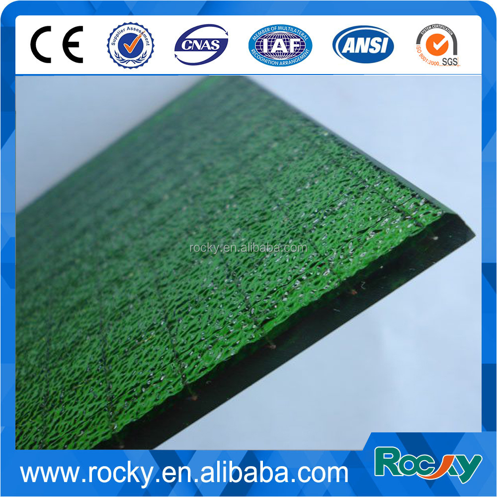 Qingdao Rocky best price high quality 6mm 6.8mm clear polished wired glass