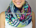 Pink Navy Chevron Scarf More Colors