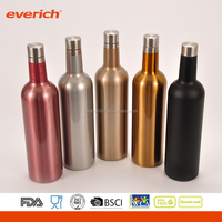 Professional customized vacuum insulated Stainless Steel wine bottle