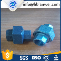 black pipe fitting BSPT Thread Malleable Iron Pump Union for Water Meter