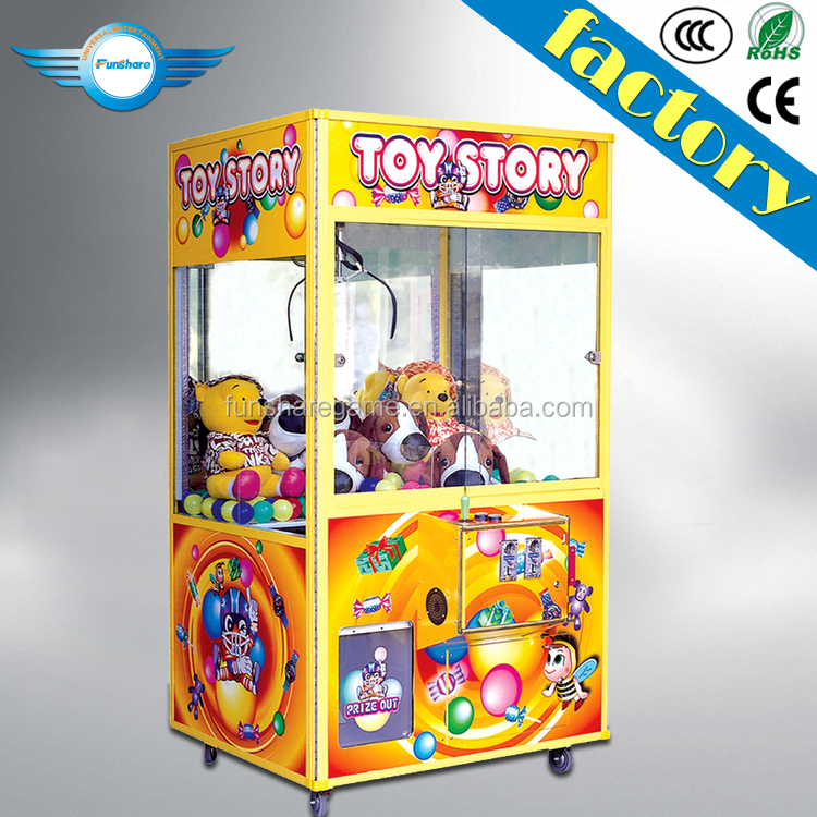 Funshare game machine crane coin operated arcade toy crane claw machine for sale