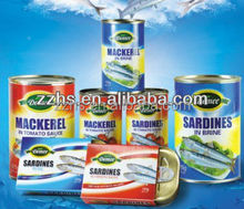 Chinese Canned Mackerel Fish in Tomato Sauce Can Fish