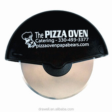 KA-4340 4 Inch Customized Logo Print Pizza Cutter Stainless Steel