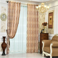Fashion luxury living room Jacquard curtains for home textile