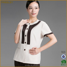 Hotel cleaning staff clothing short sleeve hotel room cleaning work uniform for women