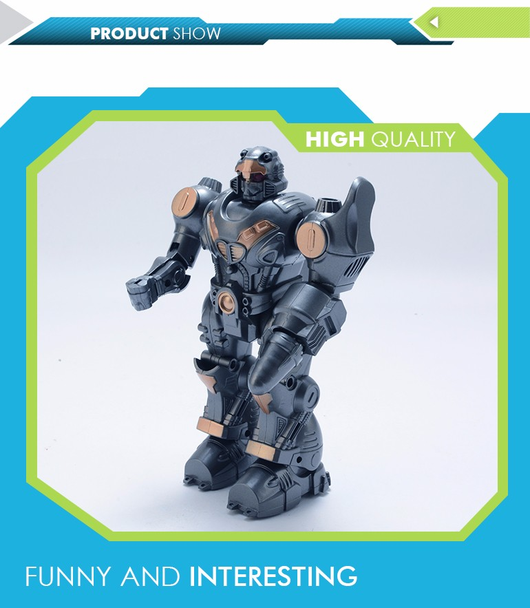 New arrival hot dark gray electronic boy toy battery operated robot for playing