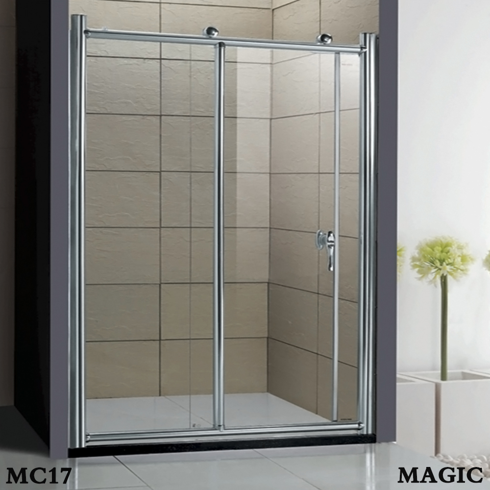 Aluminum framed,6mm tempered clear glass,shower screen