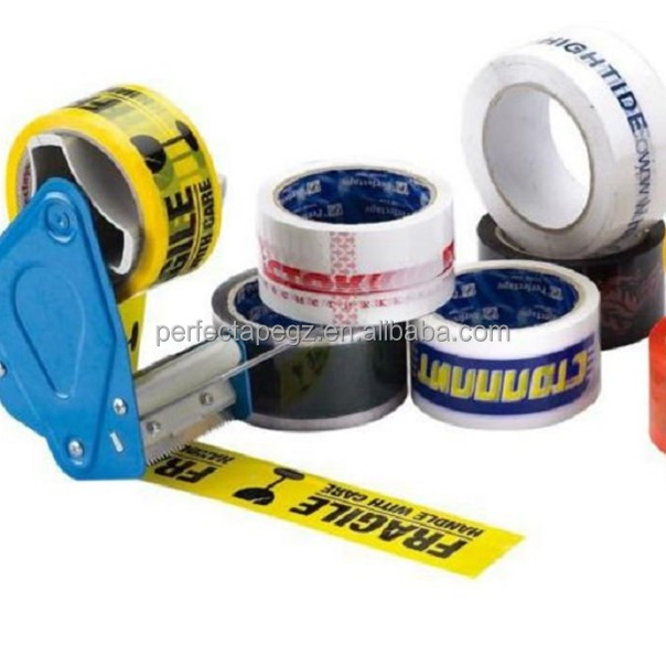 strong self adhesive custom printed carton sealing tape