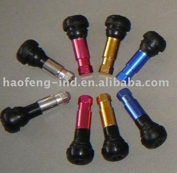 aluminum color snap-in tubeless tire valve stem TR414AL series