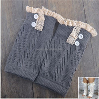 2015 Western Country Hot Sale New Design Cable Knitted Baby Socks-Fashion Knitting Leg Warmers for Kids