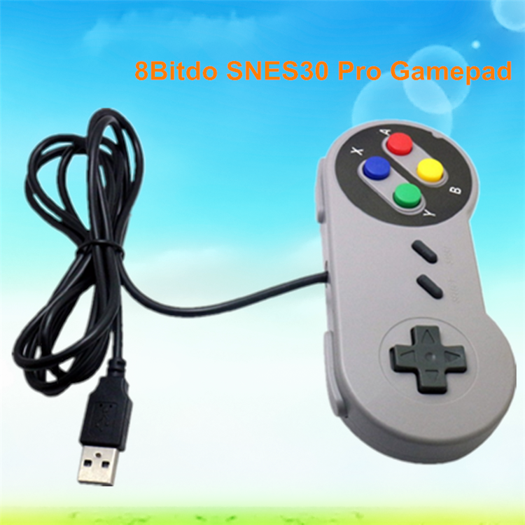 New product 2017 8Bitdo SNES30 Pro Gamepad vibration pc usb gamepad controller driver for wholesales Joystick & game control