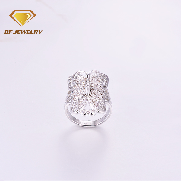 Factory price big fashion rings butterfly finger ring photo