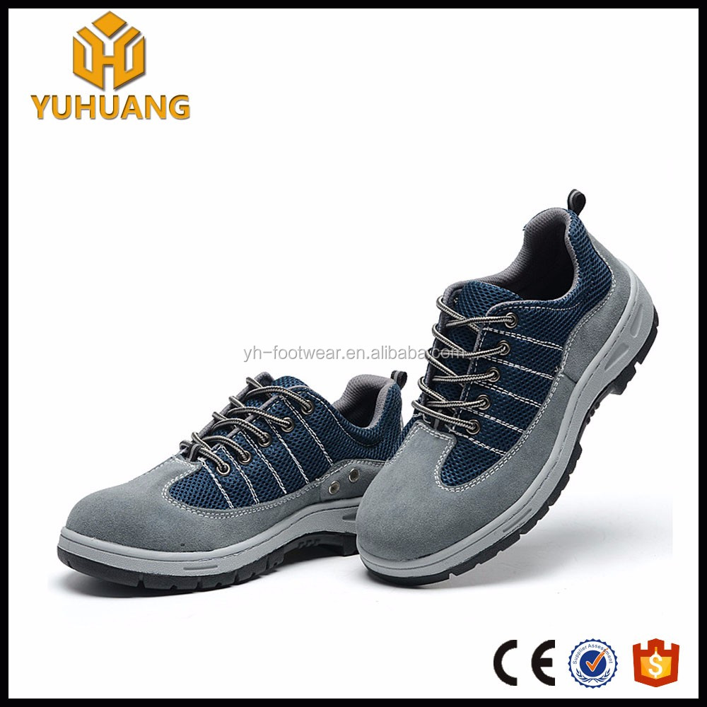 Fashionable Rubber steel toe inserts work action safety shoes