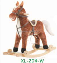 Plush Rocking Horse Scooter With Wheels Plush Animal Toys Direct From Factory