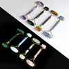 Factory Wholesale Jade Roller Facial Face Neck Slimming Massager Beauty Tool Crystal Stone Roller
