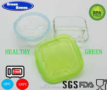 High Borosilicate Glass Bento Food Container With Dividers & Lock lid with BPA FREE