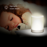 Bluetooth Stereo Touch Sensor LED Light Smart Hands Free Phone Music Speaker