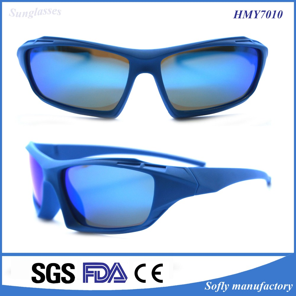 Popular High Quality Silicone UV 400 Polarized Kids Sunglasses Blue