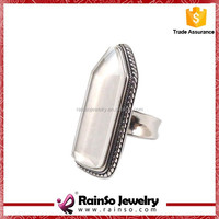 design your own opal with 1600-1800 gauss magnet stainless steel ring