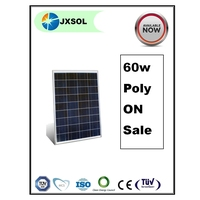 best price per watt poly-Si solar cell plate solar power bank solar panel 60w