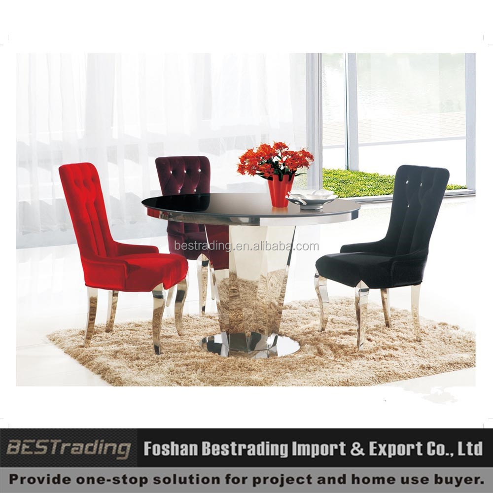 Round Stainless Steel Dining Table,Glass Top Stainless Steel Frame Dining, Table Set   Buy Round Stainless Steel Dining Table,Glass Top Stainless Steel  Frame ... Part 92