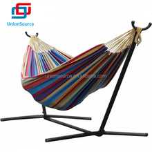 Stylish Elegant Double Canvas Fabric Hammock With Steel Stand