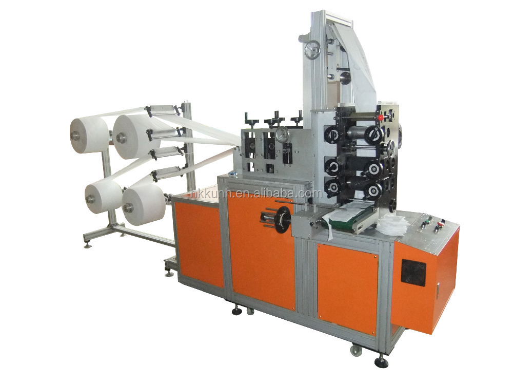 automatic ultrasonic non woven face dust folding 3M 9001/9002 mask/respirator making machine