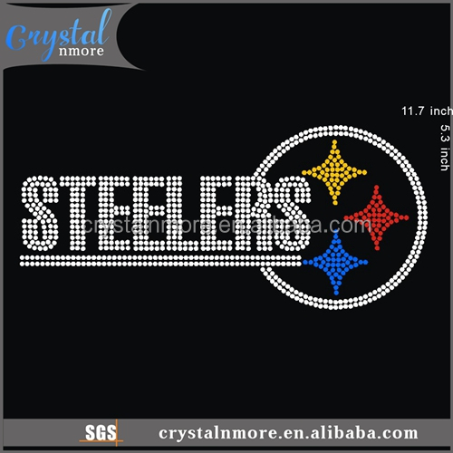 Steelers Hot Fix Rhinestone Transfer Motif for pants