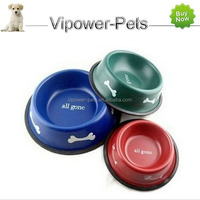 Stainless steel non-slip Pet Bowls & Feeders Dog feeding bowl Free shipping