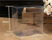 8*8*5cm packaging transparent Soft Crease PVC Clear Plastic Box