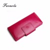 Oem fashion long style lady wallets womens bags and wallets leather brand purse