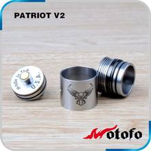 hot selling e cig trident rba atomizer V2 patriot RDA clone patriot v2 atomizer from wotofo