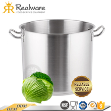 restaurant hot large round nonstick stainless steel heavy duty stock pot